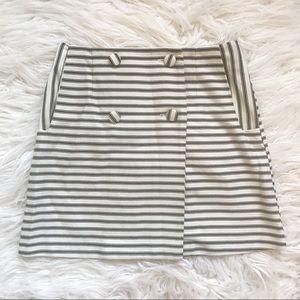 Topshop Preppy Striped Mini-Skirt